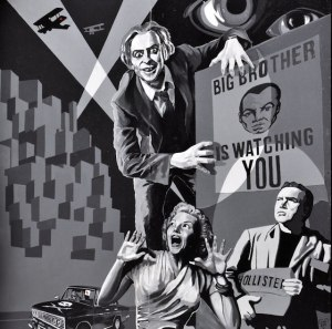 "Mural ""Big Brother"" (1984, George Orwell)"