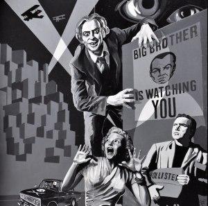 "Mural ""Big Brother"" (1984, George Orwell)"